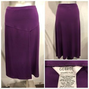 Stretch knit skirt
